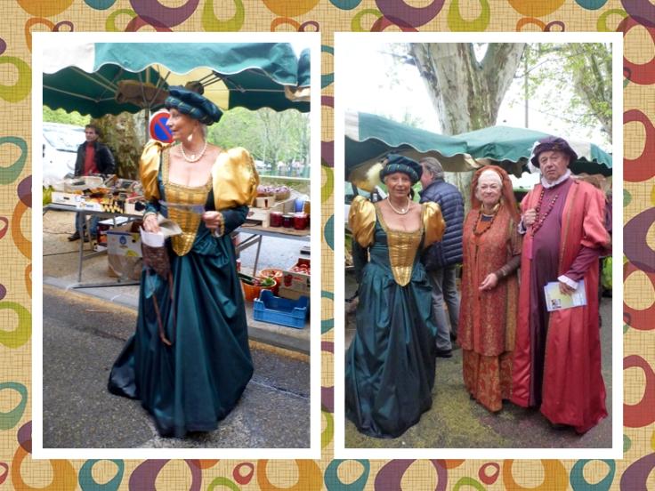 Lourmarain market costumes