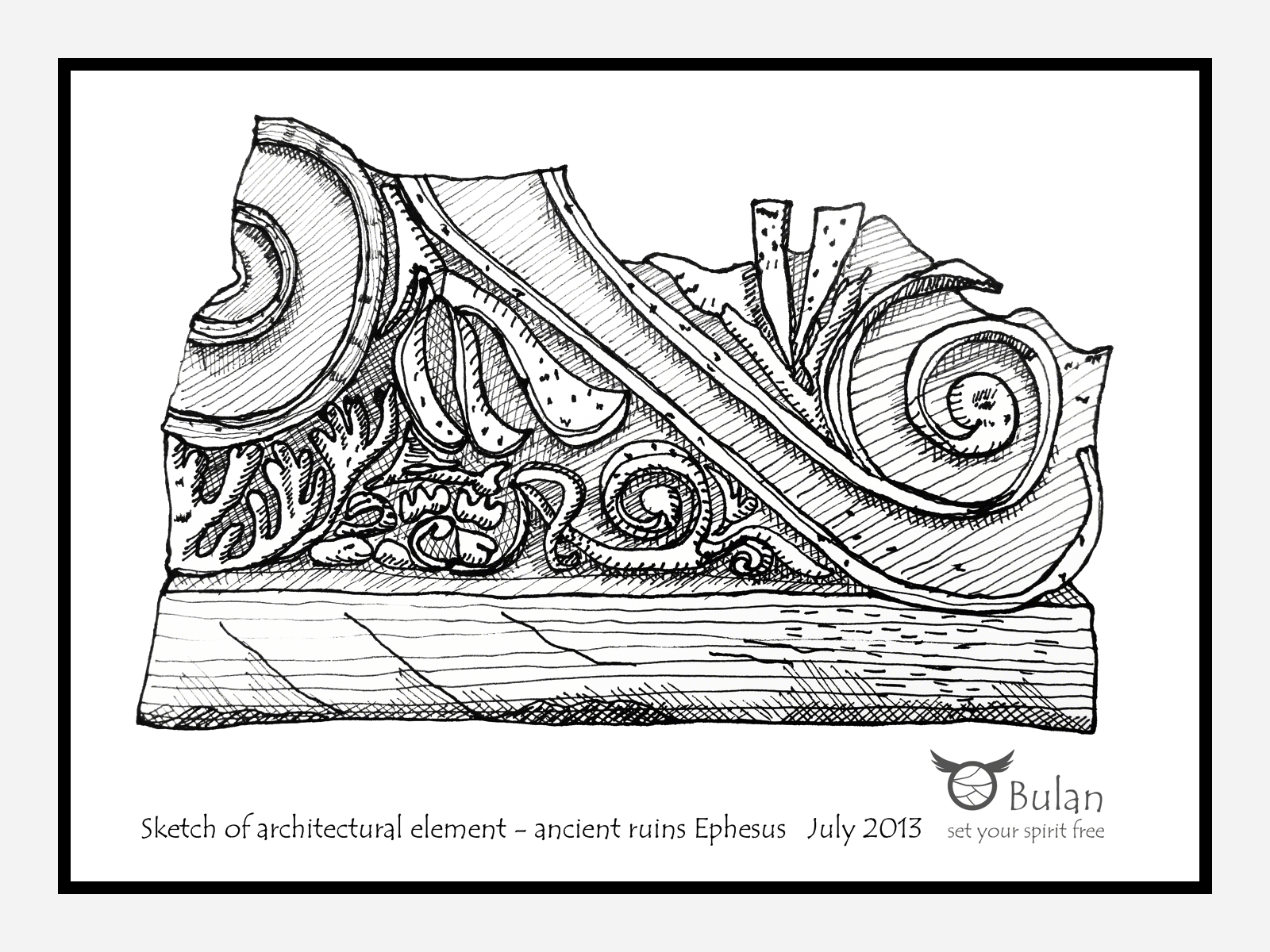 Sketch of the day no 72 Ancient Greek architectural element from