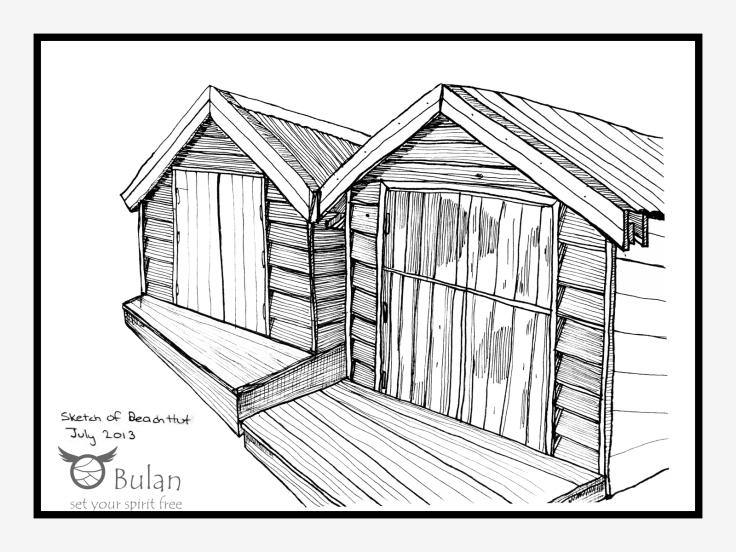 Sketch of beach hut