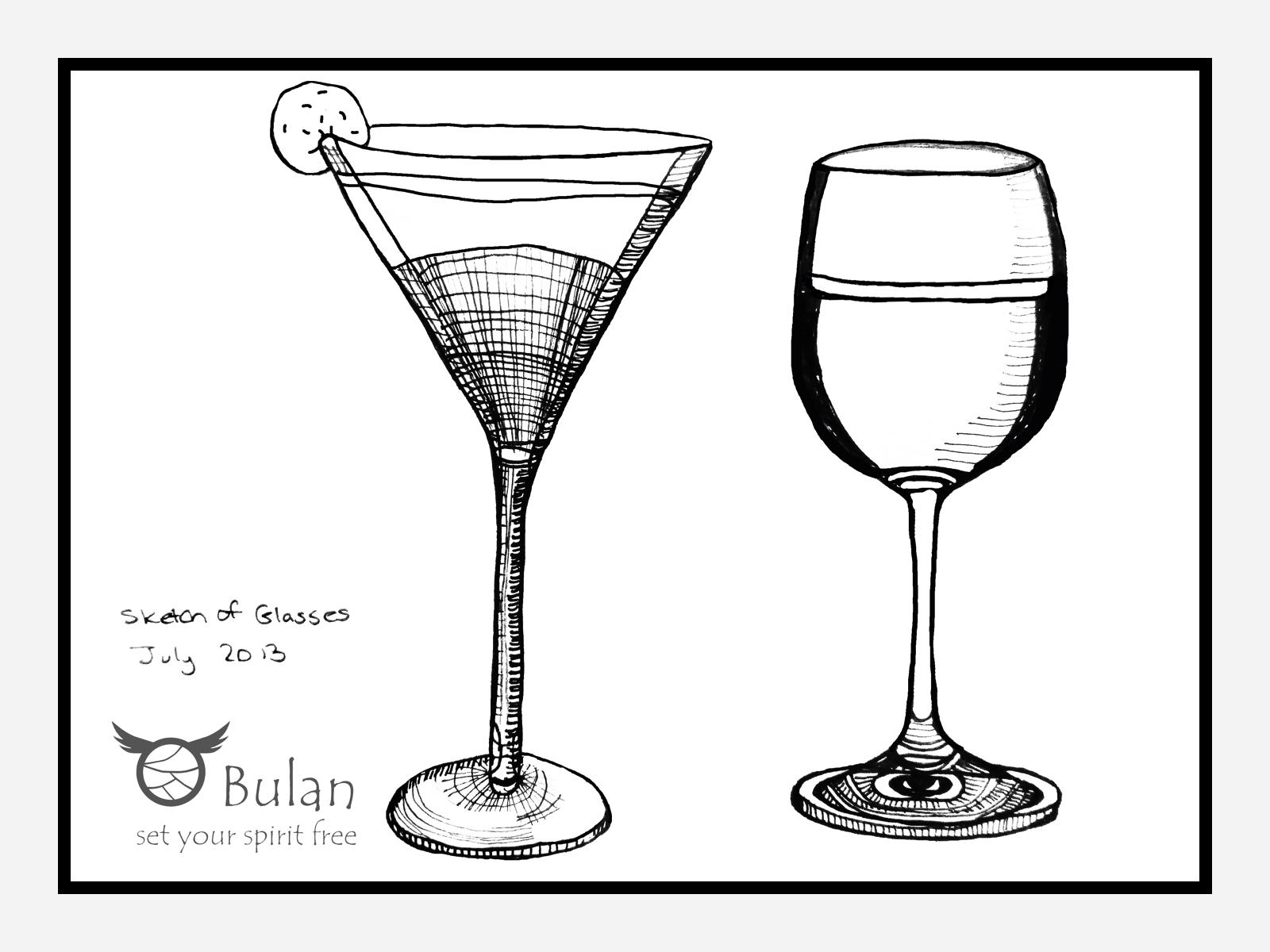 Drawing Of Wine Glass Bulanlifestyle Com