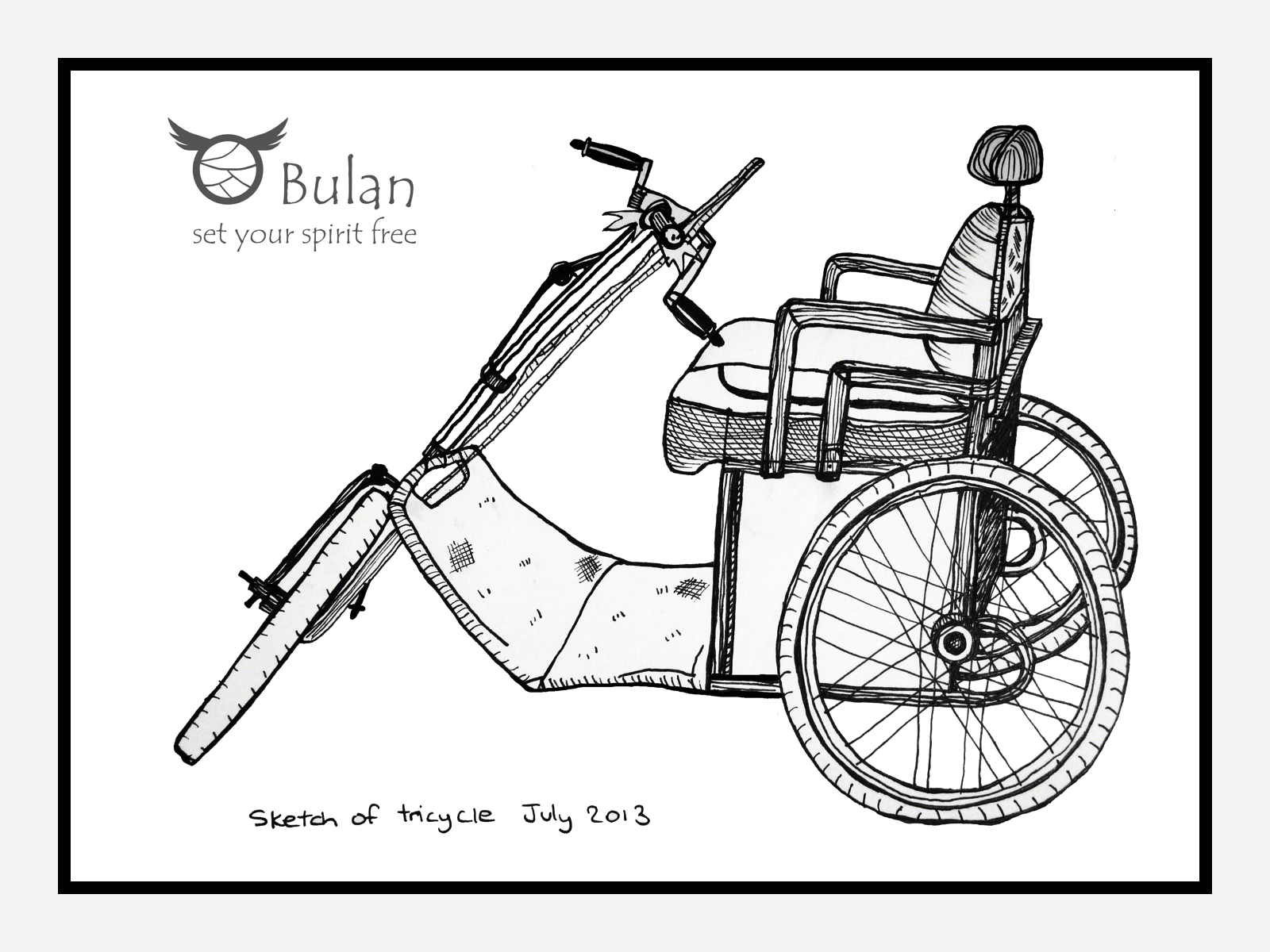 Sketch Of The Day No 85 Vintage Tricycle Bulanlifestyle Com