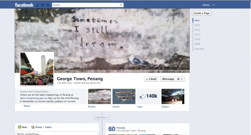 Stewart the seagull on George Town Penang Facebook page cover