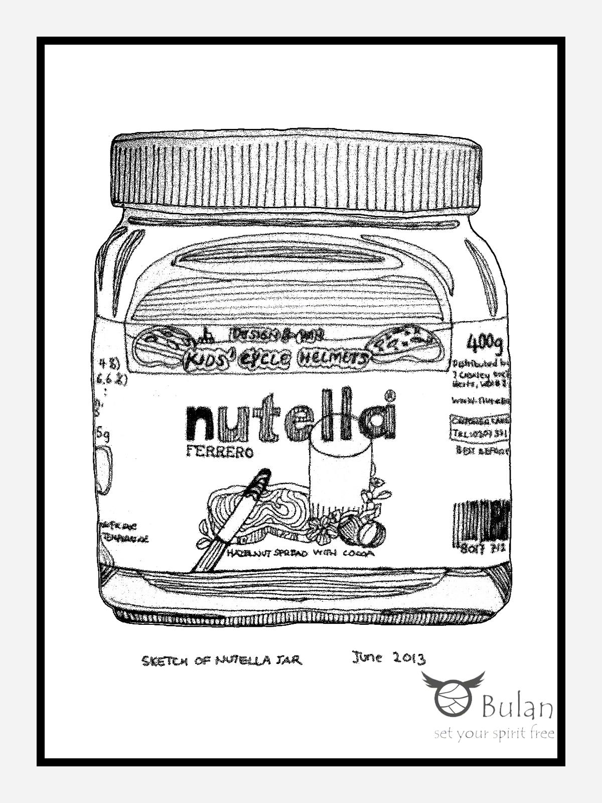 Sketch Of The Day No 65 Nutella Jar Bulanlifestyle Com