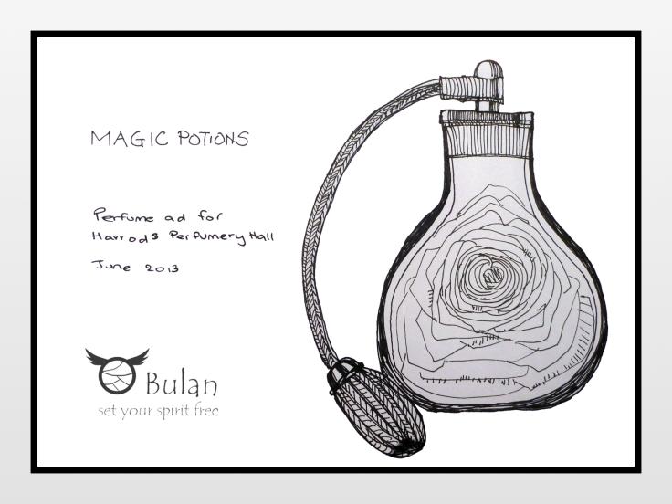 Harrods perfume hall ad