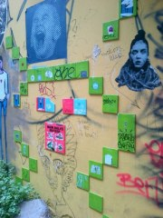 Goldilocks claiming a green tile in E Berlin