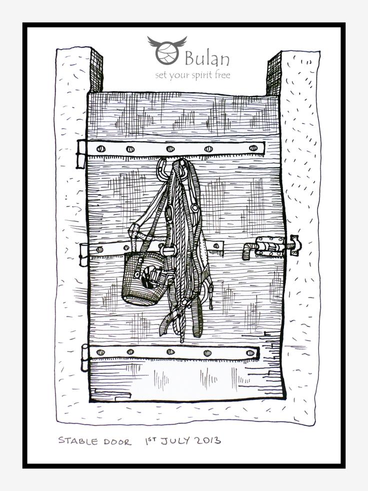 Sketch of stable door