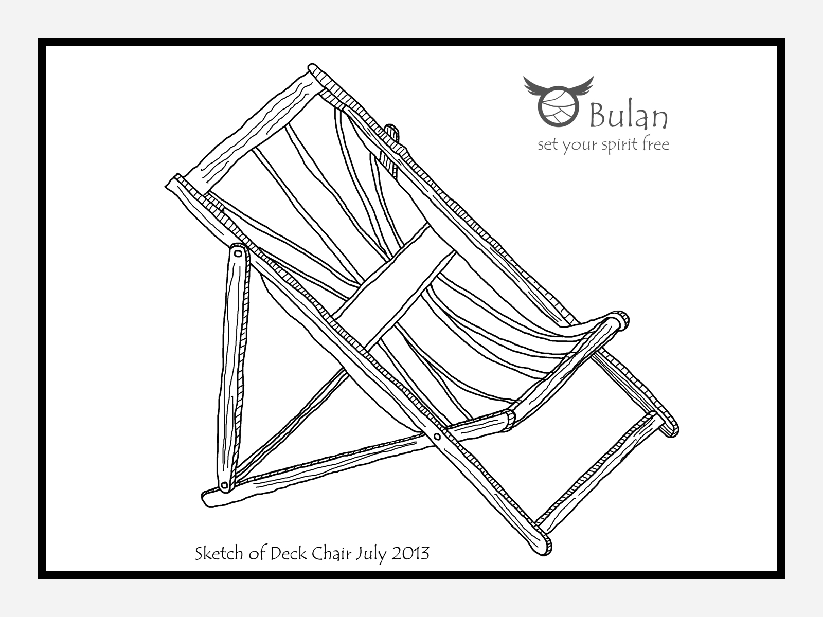 Deck Chairs Drawing Sketch of Deck Chair