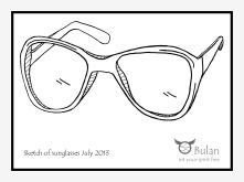 Sketch of sunglasses