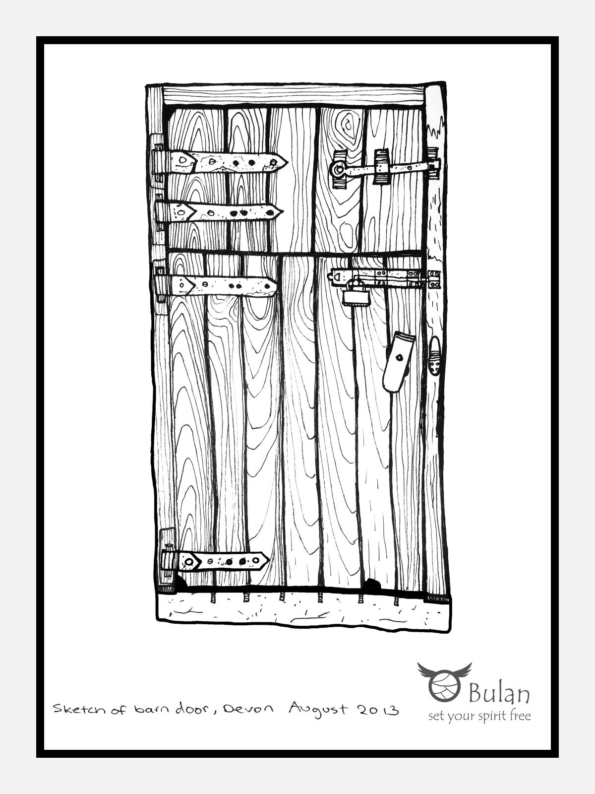 Barn door in Devon  sc 1 st  The Crazy Bag Lady @BulanLifestyle.com - WordPress.com & Sketch of the day no 109: Barn door in #Devon \u2013 The Crazy Bag Lady ...