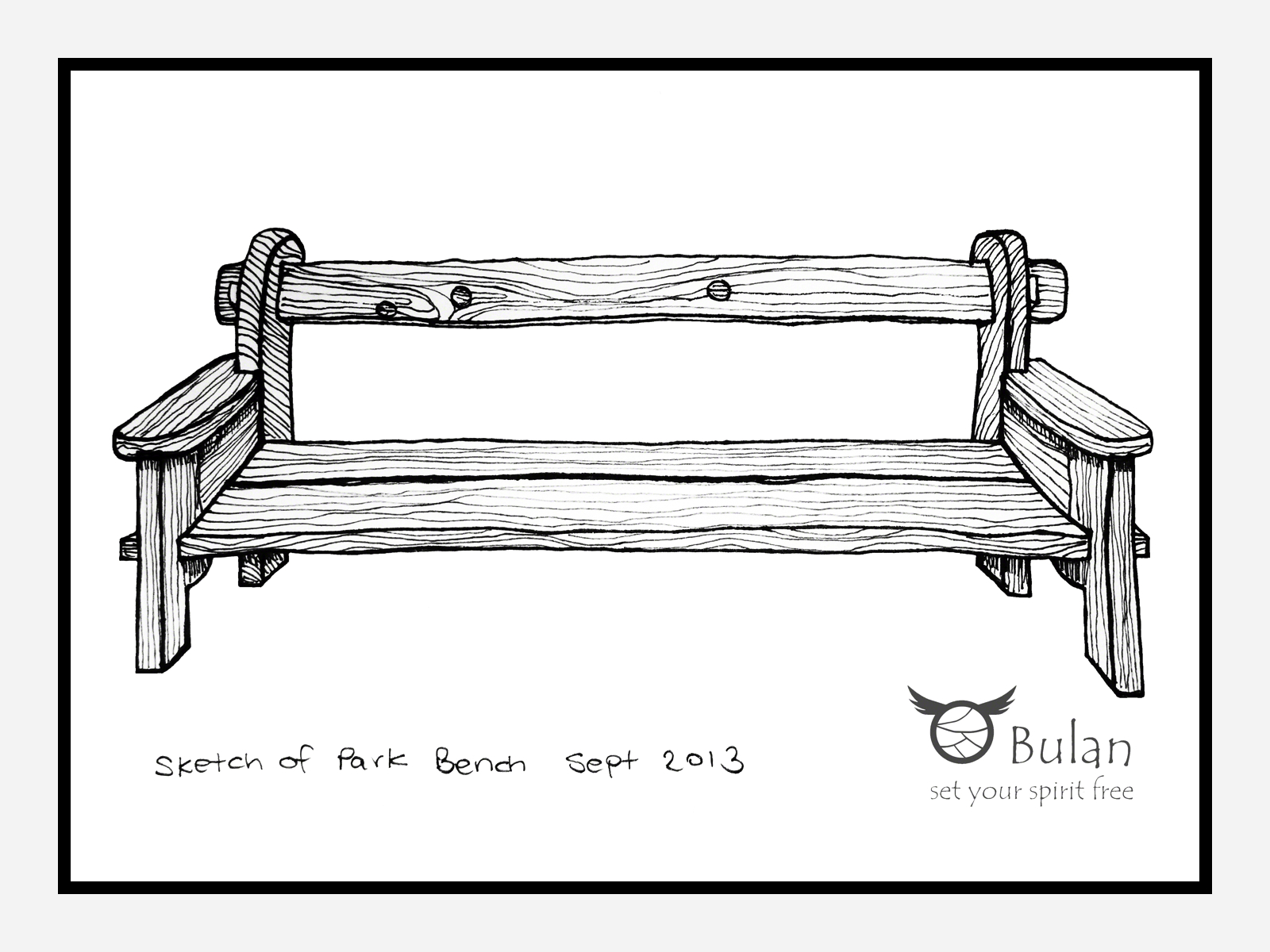 Sketch Of The Day No 135 Park Bench Bulanlifestylecom