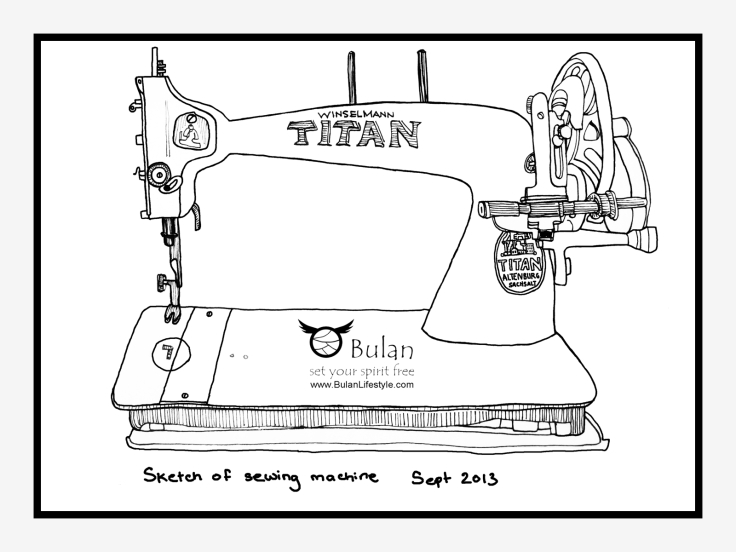 Vintage Titan sewing machine
