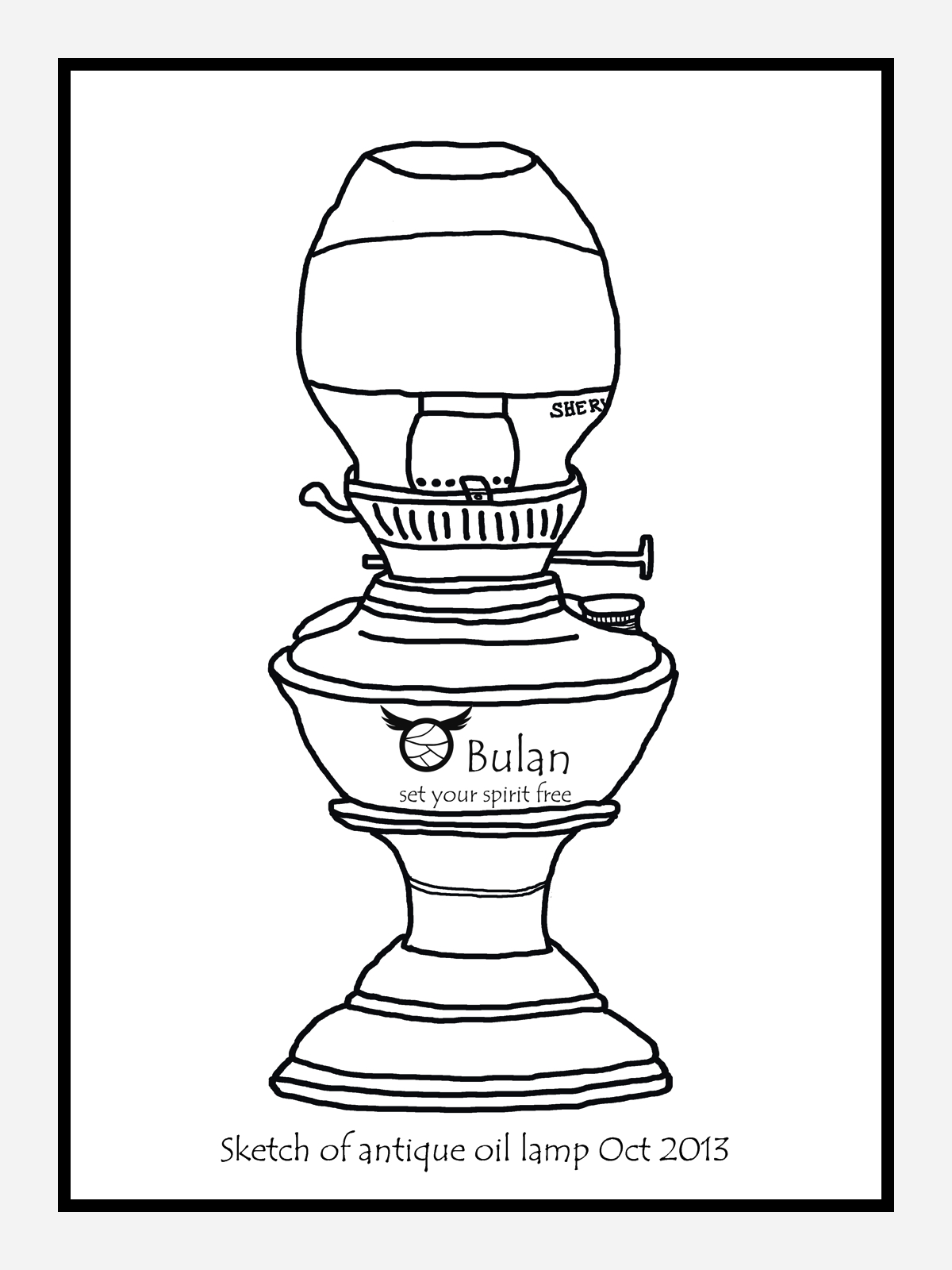 Sketch of the day no 168: Antique oil lamp – The Crazy Bag Lady ... for Drawing Oil Lamp  61obs