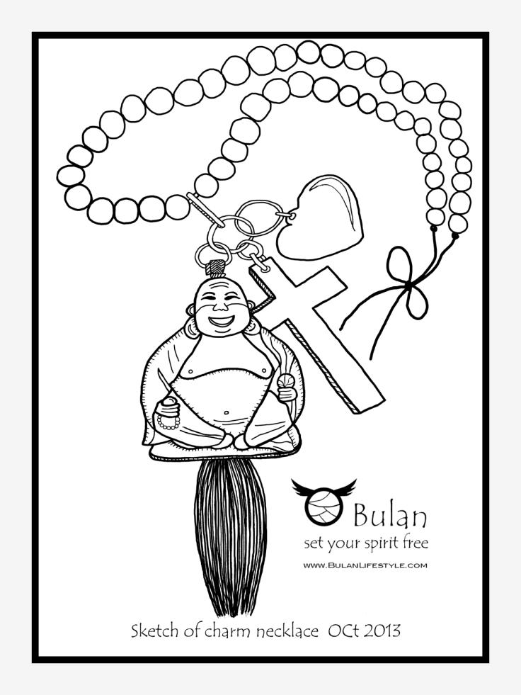 Happy Buddha Love god charm necklace