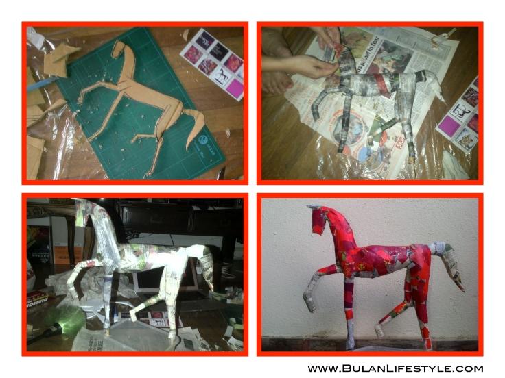 Horse papier-mâché