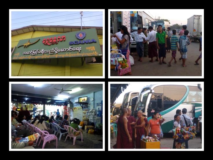 Aung Mingalar bus Stop