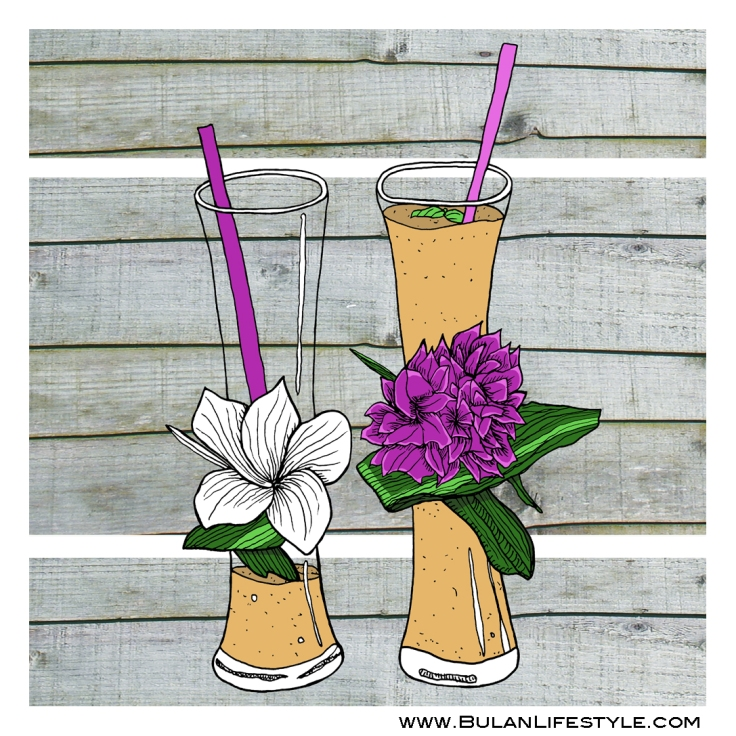 Tropical fruit shakes