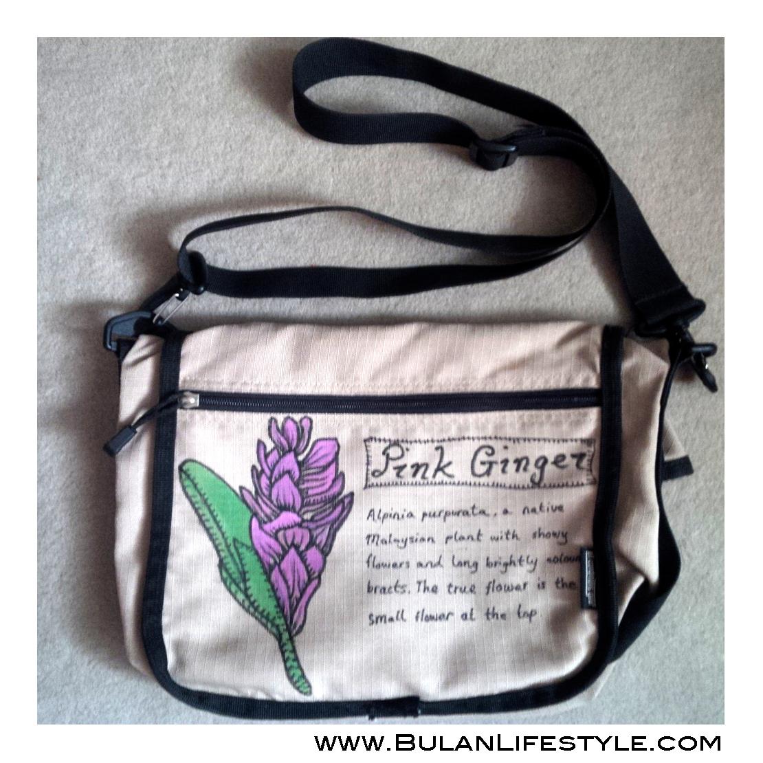 DIY Pink Ginger art bag