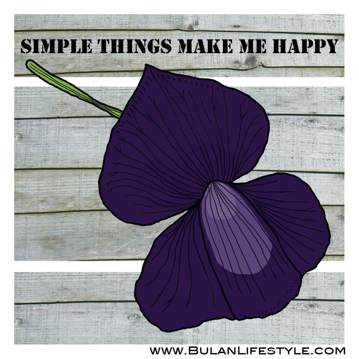 Simple things make me happy