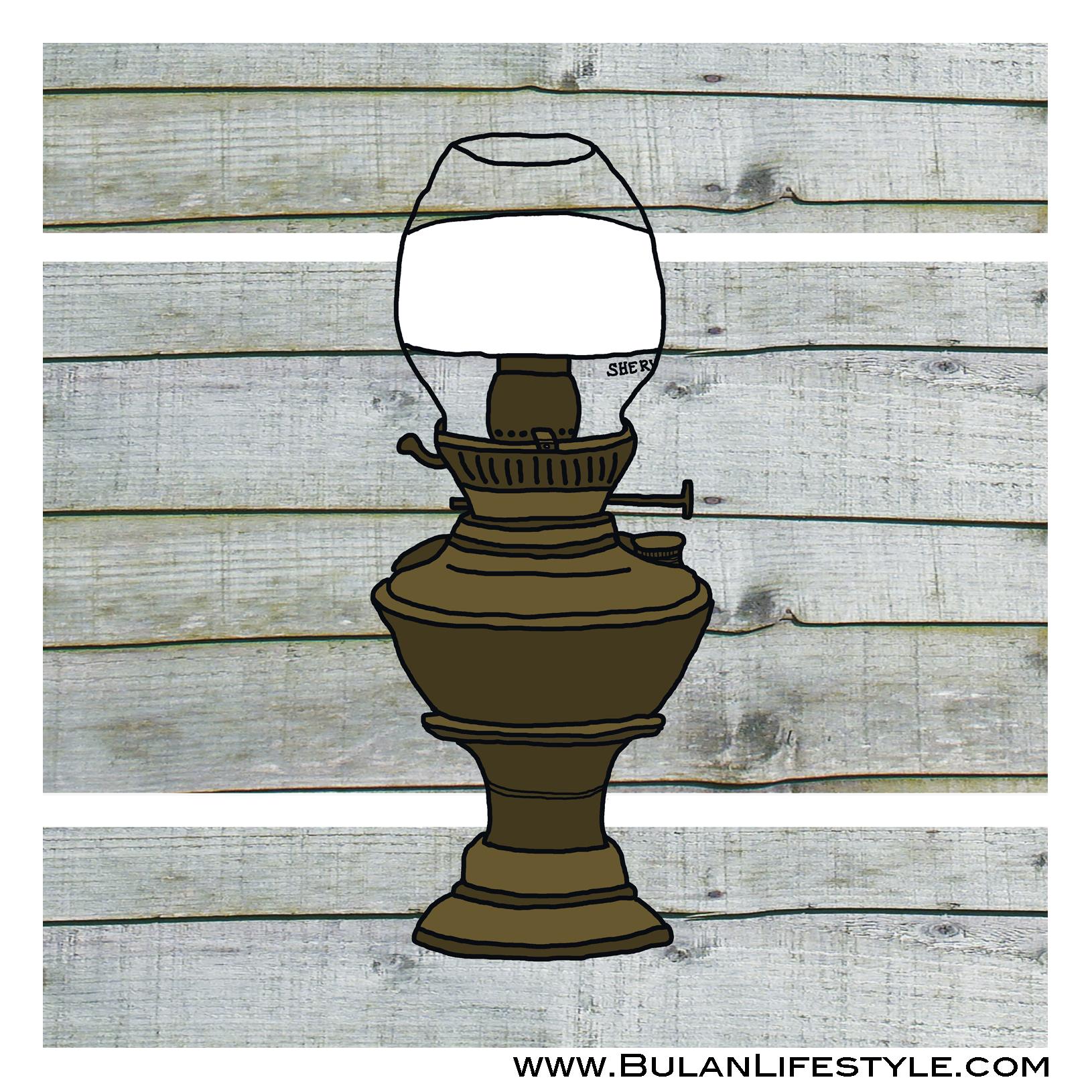 7. oil lamp wood