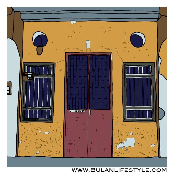 Sketch Of The Day No 320: Old Penang Door #6