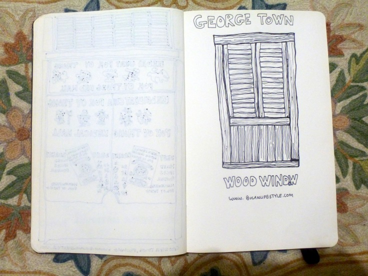 Wooden shutters in George Town Penang