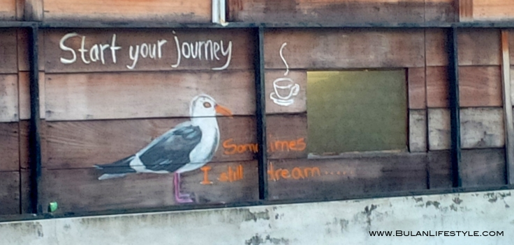 steART the inspirational seagull at Gustos cafe