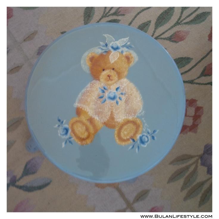 Painted teddy bear