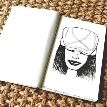 #spoonchallenge 20 portrait daily sketch challenge for spoonflower