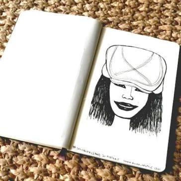 #spoonchallenge 20 portrait daily sketch challenge for spoonflower