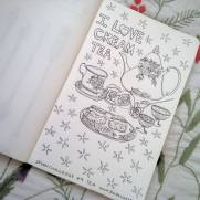 #Spoonchallenge 9 Tea for spoonflower sketch a day challenge.