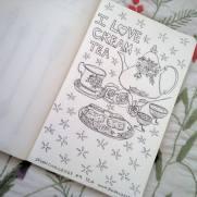 #Spoonchallenge 9 Tea for spoonflower sketch a day challenge.