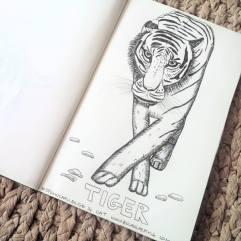 #Spoonchalange 14 Cat tiger drawing
