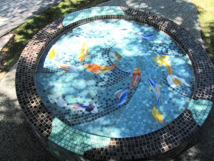 mosaic koi pond