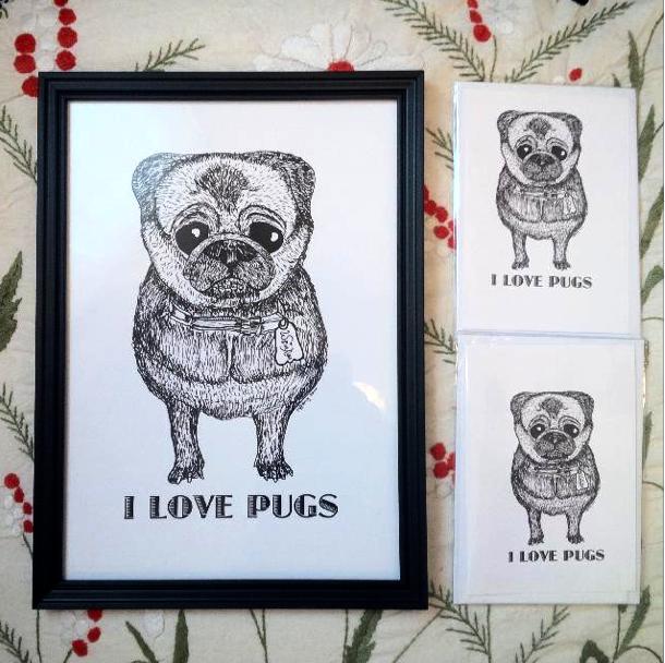 I love Pugs #Doodle