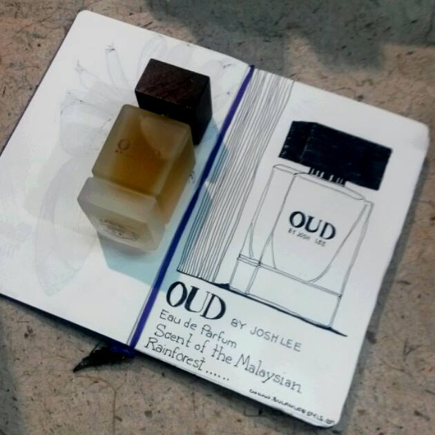 Sketch of OUD eau de toilette by Josh lee