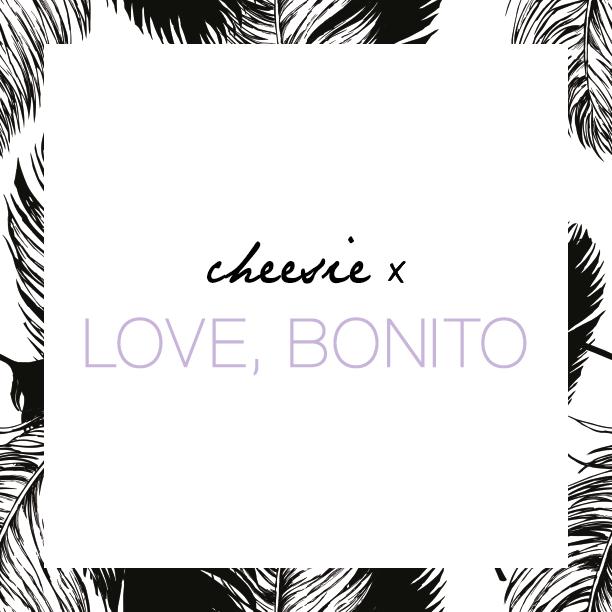 Cheesie collaboration with Love Bonito