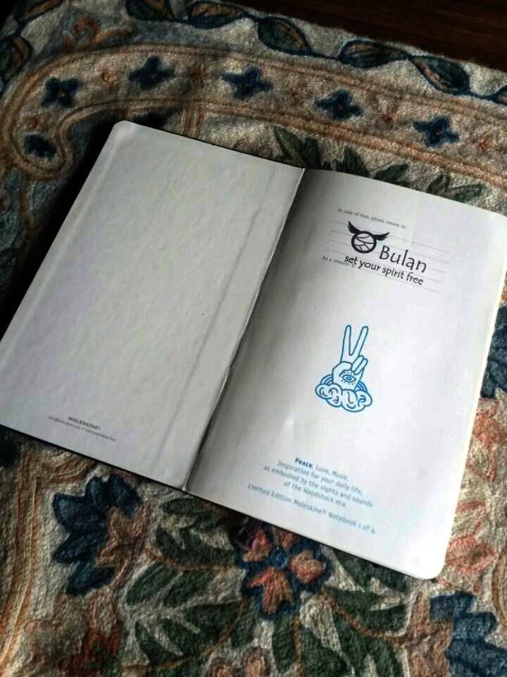 Peace Love music. Inspiration for your daily life. Limited edition moleskine notebook