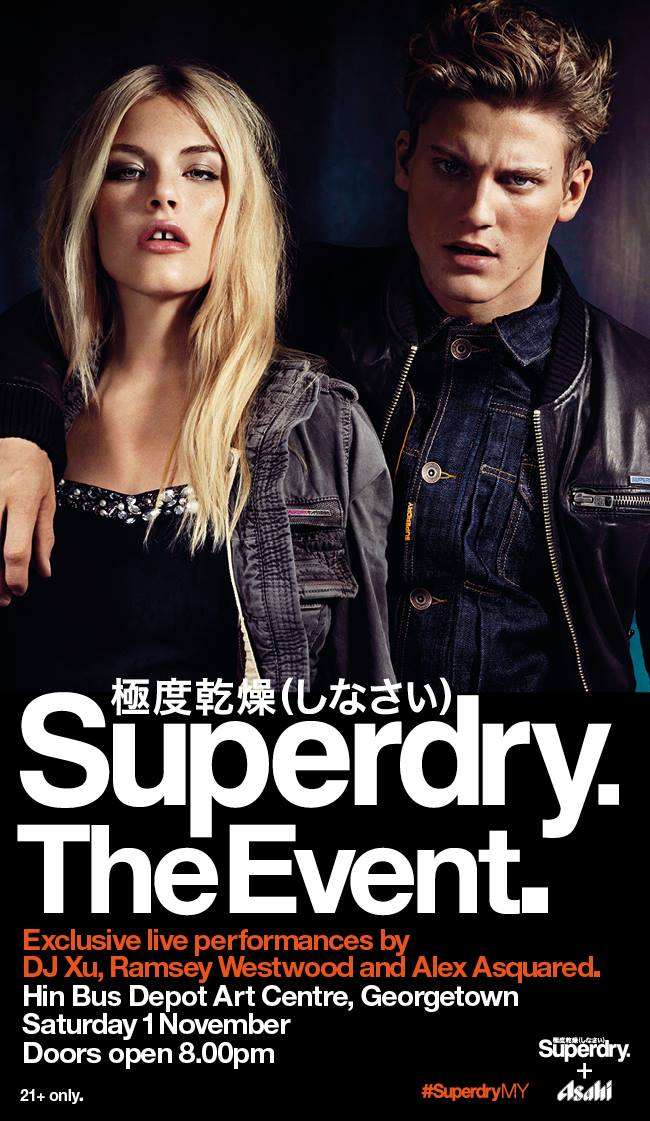 Superdry official launch party penang