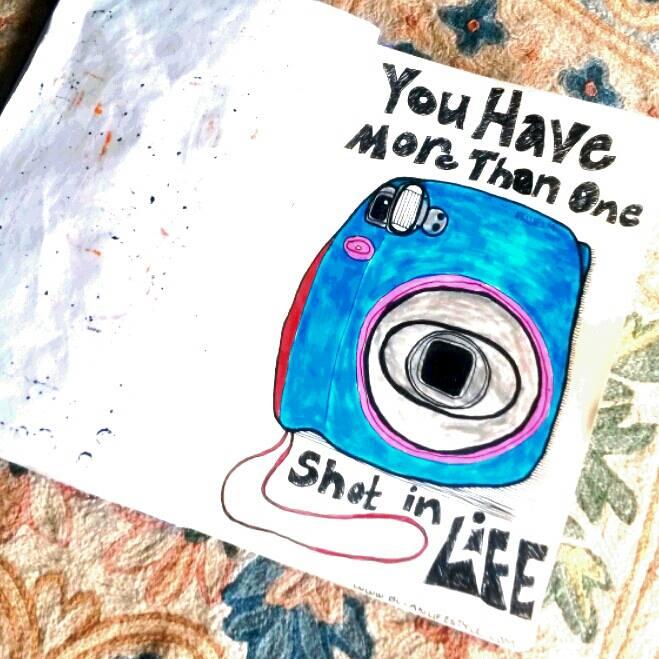 Sketch of retro camera