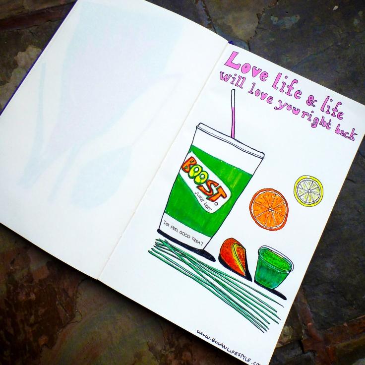 Boost Juice Sketch