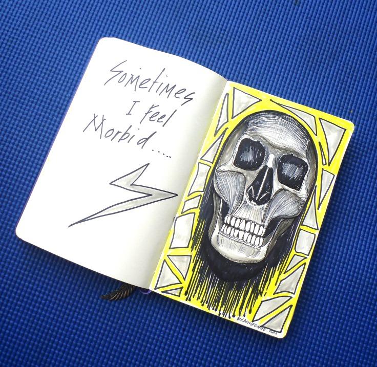 skull art sketch