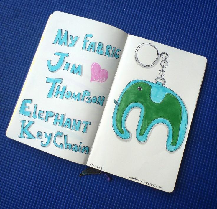 Jim Thomson elephant key chain