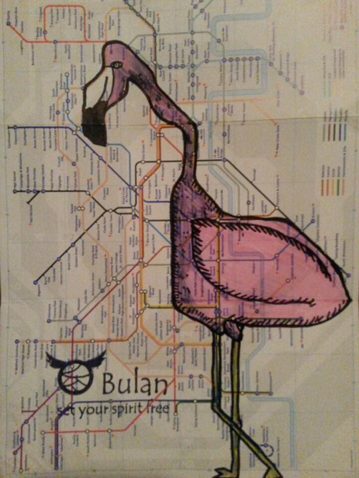 Pink flamingo tube map