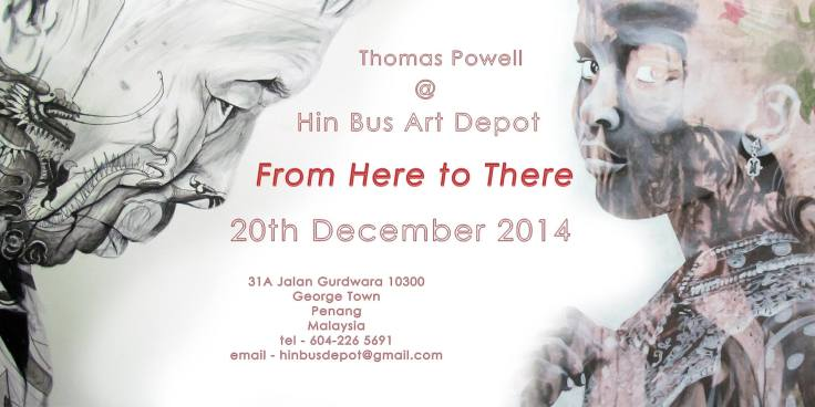 Thomas Powell solo exhibition at the Hin Bus Depot