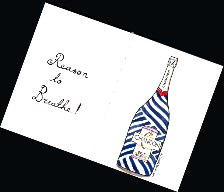 Chandon ummer nautical stripe limited edition. Reason to breathe...