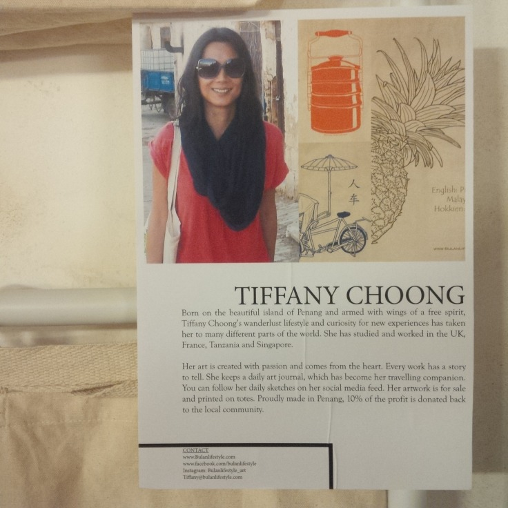 Tiffany Choong, Penang based artist