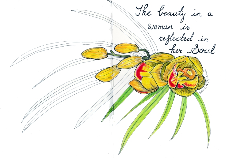 Quote: The beauty in a woman is reflected in her soul ~ Audrey Hepburn