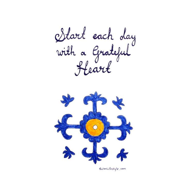 Spanish tile. Start each day with a grateful heart