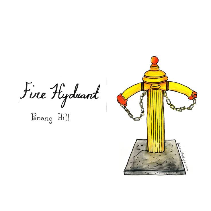 Yellow Fire hydrant in Penang Hill