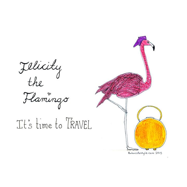 Felicity the Flamingo says it's time to travel